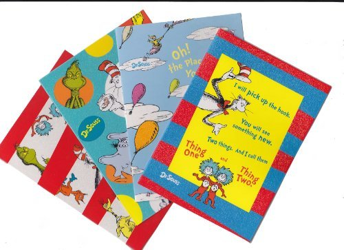 DR. SEUSS Note Card Set Cat in the Hat, Grinch, Horton, I am Sam 20 Cards & Envelopes 4 Various Designs by Dr. Seuss