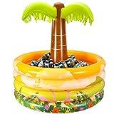iBaseToy Palme aufblasbar mit Getränkekühler, Aufblasbare Palme mit Kühler, 92 x 90cm