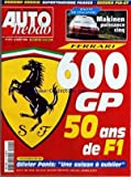 Telecharger Livres AUTO HEBDO No 1151 du 26 08 1998 SUPERTOURISME FRANCE SUZUKA FIAT GT FERRARI 600 GP 50 ANS DE F1 OLIVIER PANIS (PDF,EPUB,MOBI) gratuits en Francaise