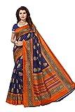 Yashika women's art silk kalamkari and bhagalpuri style saree with blouse piece (Multi-Color_Free_Size) SDPL-SAMPURNA (2) SDPL- NAVY