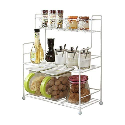 Shelf_Kitchen Cruet Rack sharders Lagerregal weiß, einfach aufzubewahren Küchenreste Halten Sie die Küche sauber und ordentlich