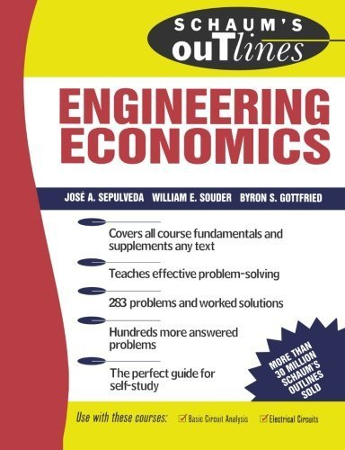 Schaum's Outline of Engineering Economics 1st by Sepulveda, Jose (1984) Paperback