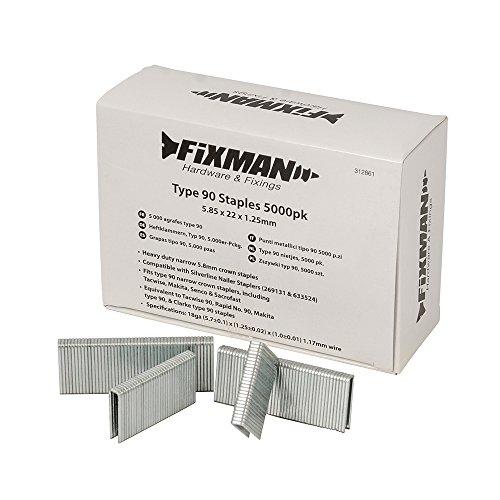 Fixman 312861 5 000 agrafes type 90 5,85 x 22 x 1,25 mm