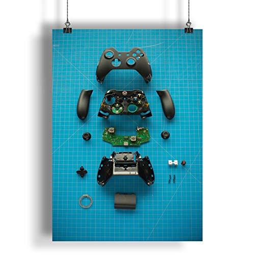 INNOGLEN Demontierter Gamecontroller A0 A1 A2 A3 A4 Satin Foto Plakat a2829h