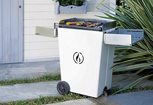 Linea grilly z05 00002-001bi party barbecue a pellet, bianco