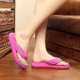 XIAMUO Koreanische Version des Sommers fashion flip flops Sandalen Damen flach Flacher Strand Schuhe clip Füße Hausschuhe ziehen, 35 Standardgrößen, Bettwäsche mit rose rot