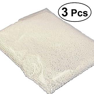 OUNONA Bolas de espuma de espuma de poliestireno esféricas mini 0.25 – 0.35cm bricolaje para manualidades de la escuela del hogar 3 paquetes (blanco)