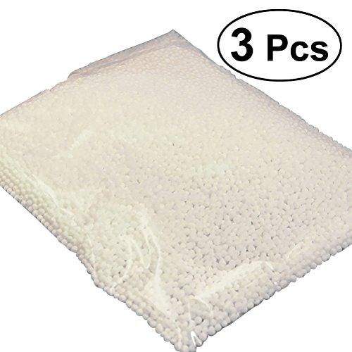 Vorcool palline di polistirolo schiuma particelle materiali creativi fai da te a colori (3 pezzi) (bianco)