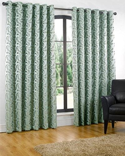 Erin Duck Egg Blue Ready Made Curtains Extra Long 90