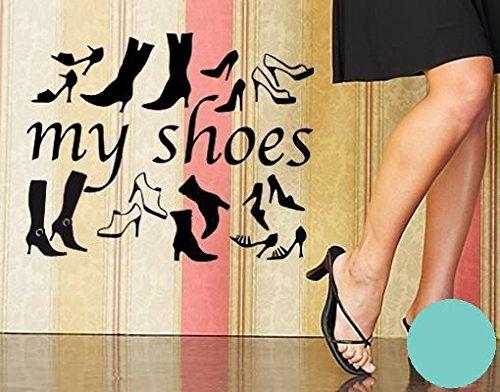 Klebefieber Wandtattoo My Shoes B x H: 30cm x 24cm Farbe: Mint