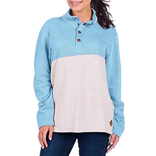 Holywin Damen Tops Lange Ärmel Hemd Tops Pullover Sweatshirt Winter Beiläufig Taste