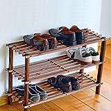 XL Solid Wooden Shoe Rack - 3 Floors
