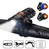 Best Bicycle Lights 1200 Lumens Rechargeables - LED Bicycle Lights Set, Wasafire Super Bright Bike Review