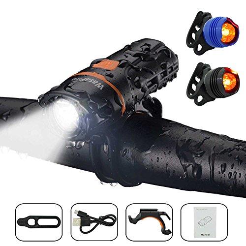 110e048ddbd LED-Bicycle-Lights-Set-Wasafire-Super-Bright-Bike-