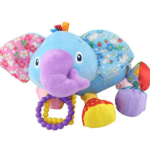CDKJ Glättung Spielzeug Kinderwagen-Auto-Sitz Spielzeug für Kinder Babybett Kinderbett Kinderbett Kinderwagen Hanging Spieluhr (Elefant)