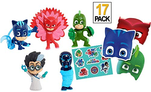 Trendy Tendency PJ Masks Juguetes –5 PJ Masks Figuras /12 Pjmask Mask & PJ Mask Juguetes Buhita Romeo Gatuno/ Juguetes Niños 3 Años, 4 Años/ Juguetes Niña y Regalos Cumpleaños Niños Toy Pijamasks