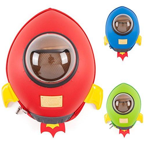 Imagen de ckb ltd® rocket babytens–bolsas de la escuela de los niños guardería kindergarten back packs   colorido diversión   para niñas y niños   premium diseño de nave espacial 3d   resistente   impermeable   para todas las edades con acolchada aj