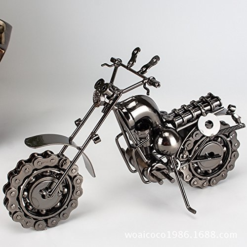 L&LQ Harley Motorrad-Modell Metallverzierungen Tuba Eisen Haus Handwerk kreative Geschenke Home Decoration (Harley Motorrad Uhr)