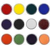 HaiQianXin Trucco di colore del fronte della fase del pigmento della pittura del corpo opaco a base d'acqua professionale di 12 colori (Color : Yellow)