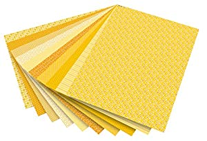 Folia 46109-Diseño de cartón Basics, 50x 70cm, 10Hojas, Amarillo Surtidos