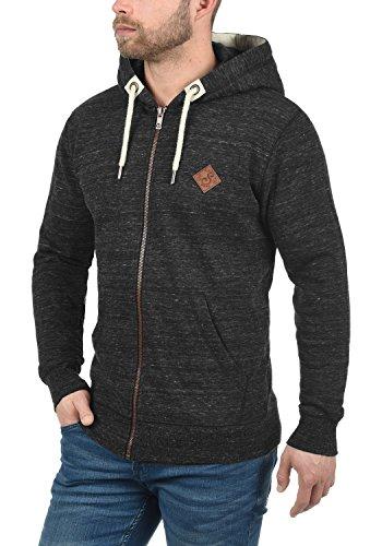 SOLID Craig Herren Kapuzenpullover Hoodie Sweatshirt aus hochwertiger Baumwollmischung Meliert, Größe:M, Farbe:Black (9000) - 2