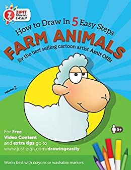 Farm Animals How To Draw Farm Animals Drawing Book For Children