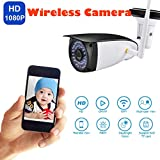 Sunnywill HD 1080P Home Security con Visione Notturna Wireless Motion Detection Fotocamera Impermeabile UK Foto FTP, avvisi e-Mail Supporto iPhone, Smartphone Android con App CamHi