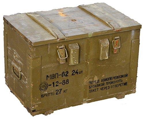 """Munitionskiste Box \""""MBN-62\"""" Transportkiste Wandstärke über 1 cm Maße ca 58x40x40cm Innenmaße 54x33x34cm Holzkiste aus Holz, Lagerkiste Werkzeugkiste, Transportkiste, Munitionsbox Holzkiste Holzbox"""
