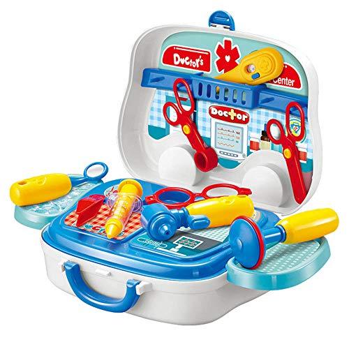 Arzt-Set für Arztpraxis und Ärzte, lustiges Spielzeug, Geschenk, mit stabilem Koffer, medizinische Ausrüstung für Kinder im Alter von 3 bis 6 Jahren
