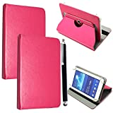 7'' Universal Tablet Hülle - Mobile Stuff Ultra Slim PU Leder Flip Cover Schutzhülle für tablet PC Painted Case Lederhülle Ledertasche Etui Hülle Tasche Schale mit Ständer Function + Stylus (Universal Hülle für 7 Zoll, Plain Pink Book) Lenovo Tab 2 A7-10 7 Zoll Tablet Pc, Huawei Mediapad X2, Odys Rapid 7 LTE 7 Zoll Tablet-PC, Asus Nexus 7, Alldaymall A88X 7 Zoll Tablet PC, Dragon Touch Y88X Plus 7 Zoll Tablet PC, iRULU eXpro 1 Tablet PC (X1), XIDO X70 7 Zoll Tablet-Pc