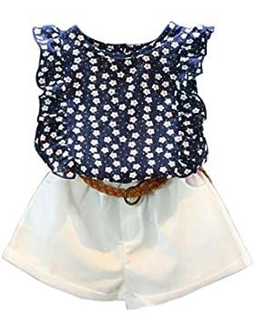 Conjuntos de ropa, Dragon868 Niños suaves niñas verano T-shirt + pantalones cortos conjunto