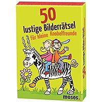 Moses 50 lustige Bilderrätsel für Knobelfreunde | Kinderbeschäftigung | Kartenset