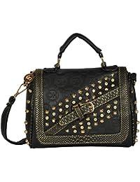 Lavu&me Women's Satchel ,girls Sling Bag &cross Body Bag ,handbag (Black,Black Casual Slingbag LE084A)