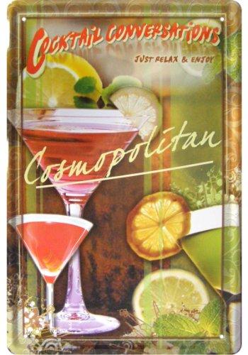 Blechschild XXL Bar Party  Cosmopolitan Cocktail