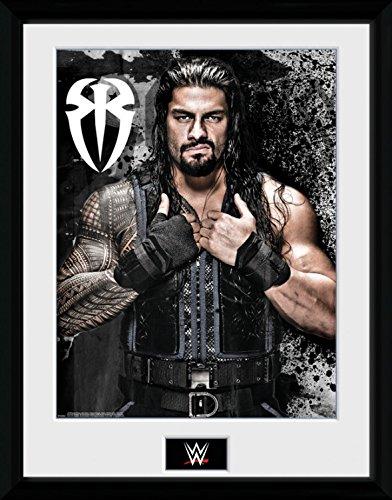 1art1 100290 Wrestling - WWE, Roman Reigns Photo Gerahmtes Poster Für Fans Und Sammler 40 x 30 cm (Poster Wwe)