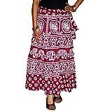 Marusthali Indian Wrap Skirt Printed Cot...