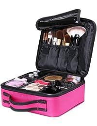 Luxspire Makeup Kosmetikkoffer, Professionelle Make Up Etui Kosmetische Box Tragbare Reise Künstler Aufbewahrungstasche Toiletry Organizer mit einstellbaren Teiler, Roserot