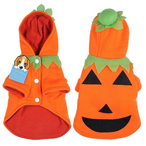 yunt Mignon Vetement Mantel Kostüm Kürbis Halloween für Hunde Katze Kleine oder mittlere Größe (XS) (Cher Halloween Kostüme)