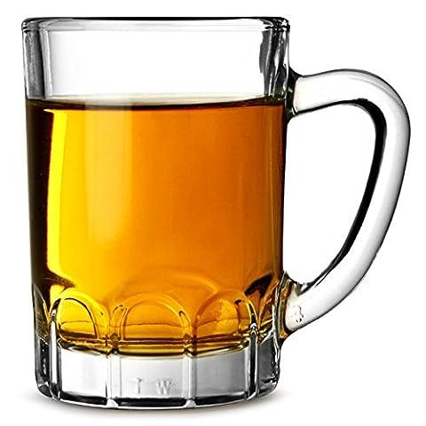 Sunray Mini Glass Tankards 3.2oz / 90ml - Set of