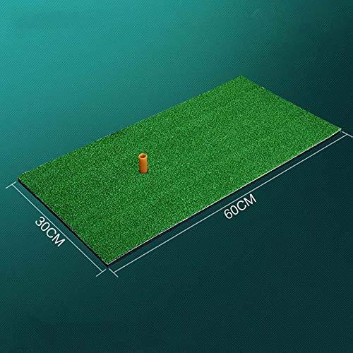 HWTP Golfmatte-Indoor Golf Übungsgrasmatte (Backyard Training Hitting Pad Golf Mat) mit T-Stück Outdoor Mini Golf Übungszubehör,B:30cm*60cm -