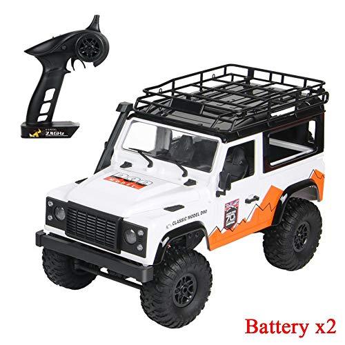 jinclonder ferngesteuerte Autos, Land Rover Defender Modellauto Anniversary Edition, RC Rock Crawler Buggy, Offroad-Militär-Truck/Allround-Simulationssteuerung