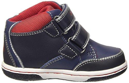 Geox B Flick D, Chaussures Marche Bébé Garçon Blau (NAVY/REDC0735)