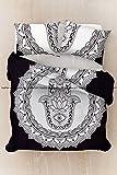 Sophia Art Hippie Ethno Rund Hamsa Hand Bettbezug-Sets mit Kissen Abdeckungen von Wende, Indian Bettbezug Quilt Decke Bohemian Doona Cover