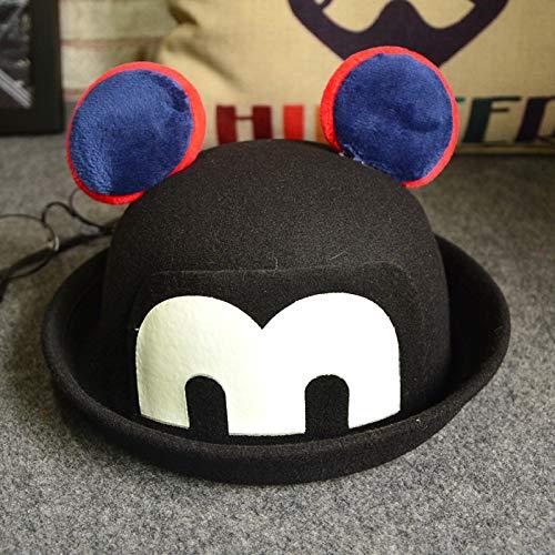 mlpnko Kinder Hut leuchtende Mickey Wollmütze Jungen und Mädchen Cartoon Curling Becken Hut Schatten öffentlichen schwarzen Code - Van Gogh Kostüm Kinder