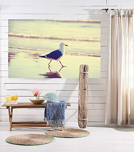 Fototapete selbstklebend Möwe am Strand - Vintage - 230x150 cm - Wandtapete - Poster - Dekoration - Wandbild - Wandposter - Bild - Wandbilder - Wanddeko