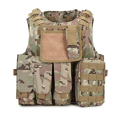 ZRDY Tarnung Jagd Militärische Taktische Weste Wargame Körperschutz Jagdweste SWAT Team Outdoor Jungle Equipment (Color : CP Camo)