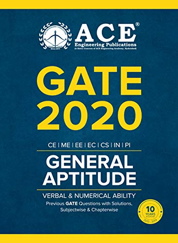 GATE-2020 General Aptitude (Verbal & Numerical Ability) Previous GATE Questions with Solutions, Subject wise & Chapter wise (2010-2019)