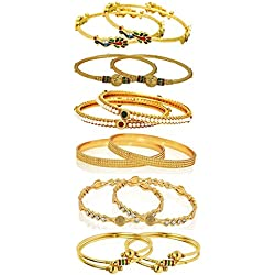 YouBella Gold Plated Bangles Combo Of 6 Bangles Jewellery FprGirls/Women (2.6)