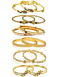 YouBella Gold Plated Bangles Combo Of 6 Bangles Jewellery FprGirls/Women