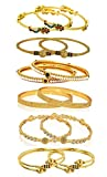 YouBella Golden Plated Bangle Set for Women (Golden)(YBBN_91148_2.4)